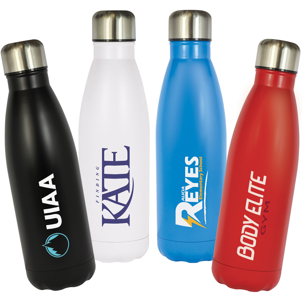 Refresh Double Wall Stainless Steel Water Bottle (500ml)