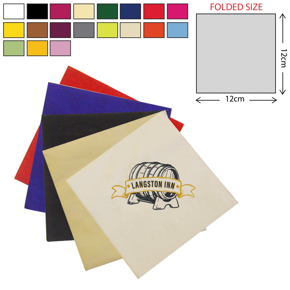 Coloured Cocktail Napkin 2Ply (25X25cm)