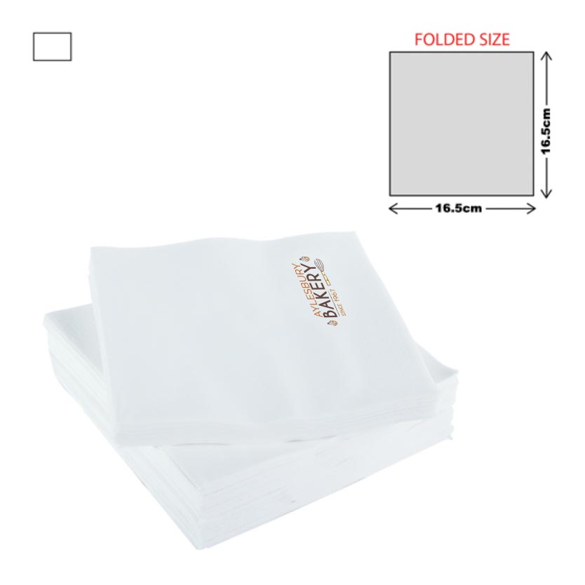 White Lunch Napkin 3Ply (33X33cm)