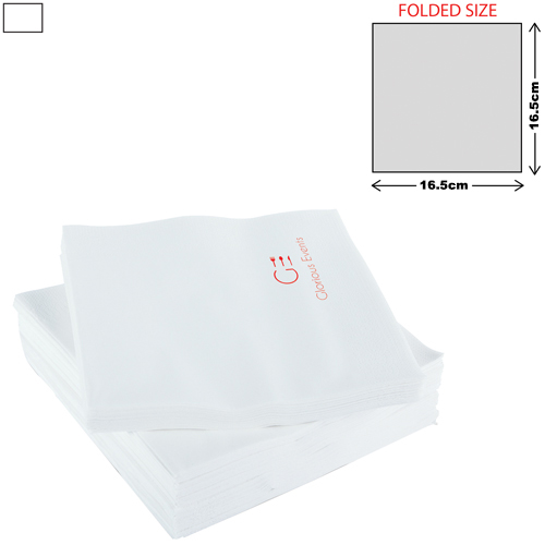 White Lunch Napkin 2Ply (33 X 33cm)