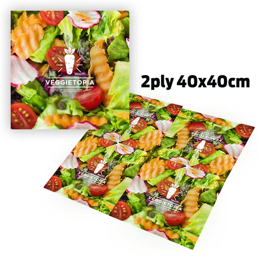 Full Coverage Paper Napkin 2Ply (40X40cm)