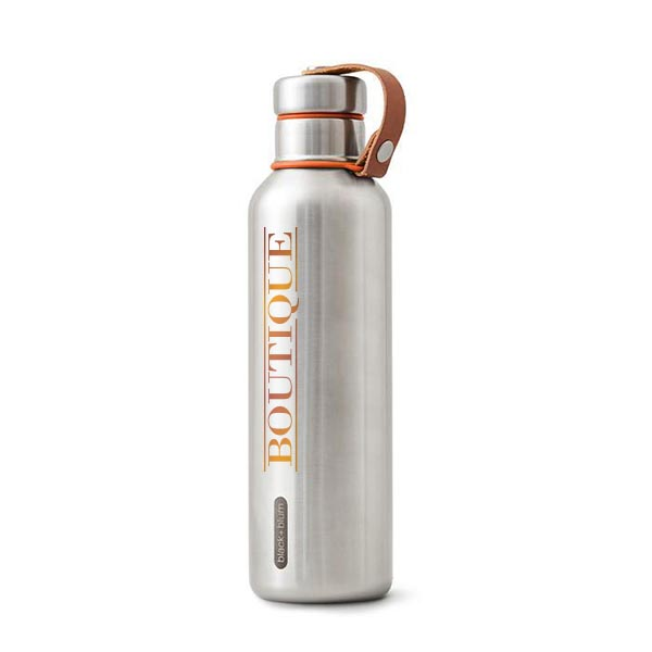 Insulated Water Bottle Large - black+blum