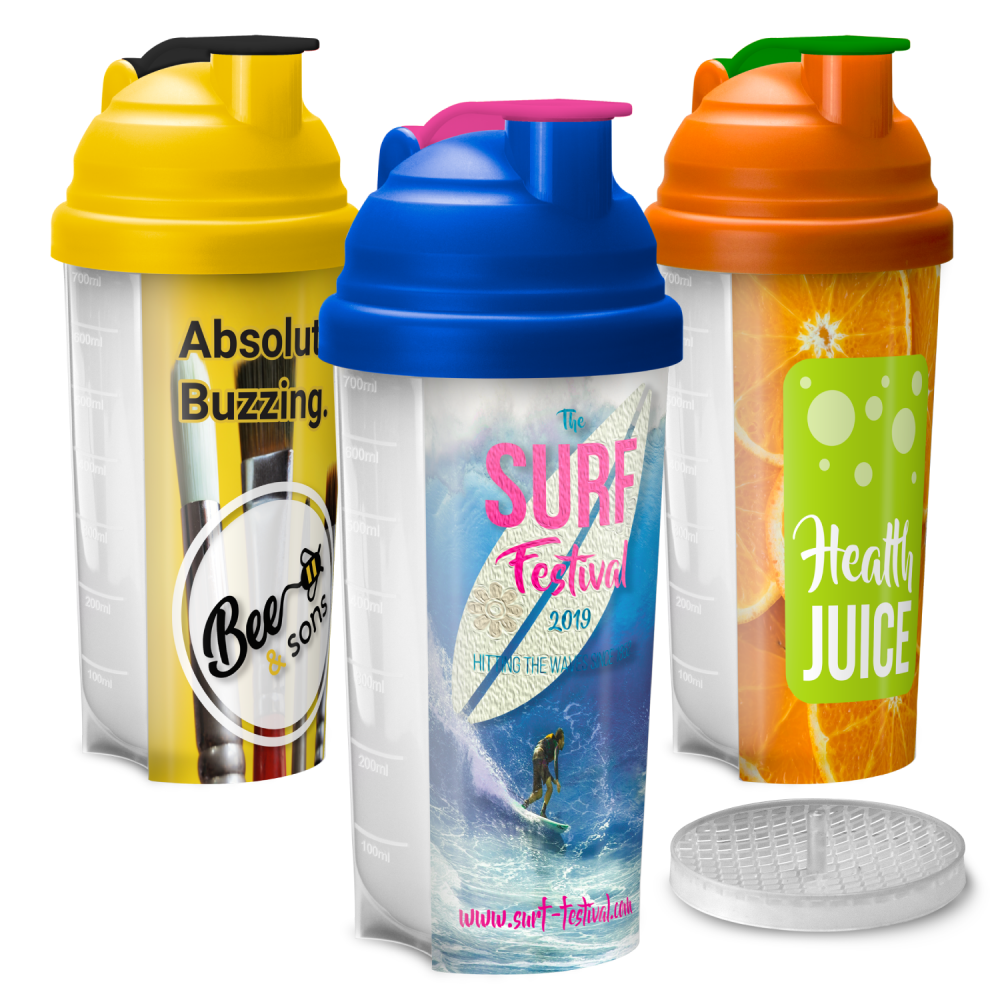 Plastic Gym Protein Shaker Bottle (700ml)