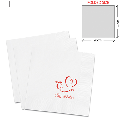 White Dinner Napkin 3Ply (40X40cm)