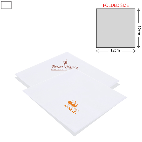 White Cocktail Napkin 2Ply (25X25cm)