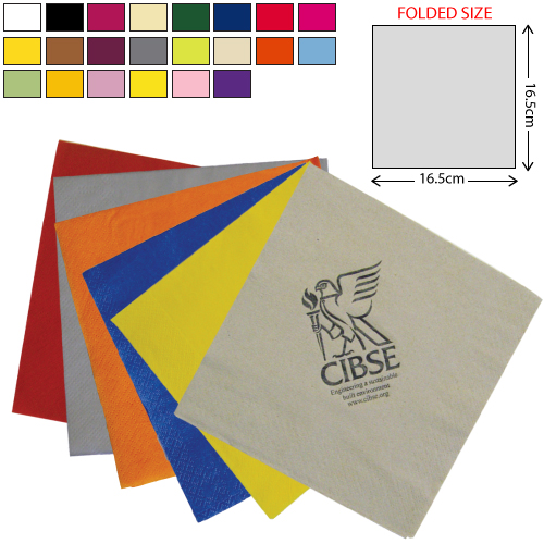 Coloured Lunch Napkin 2Ply (33X33cm)