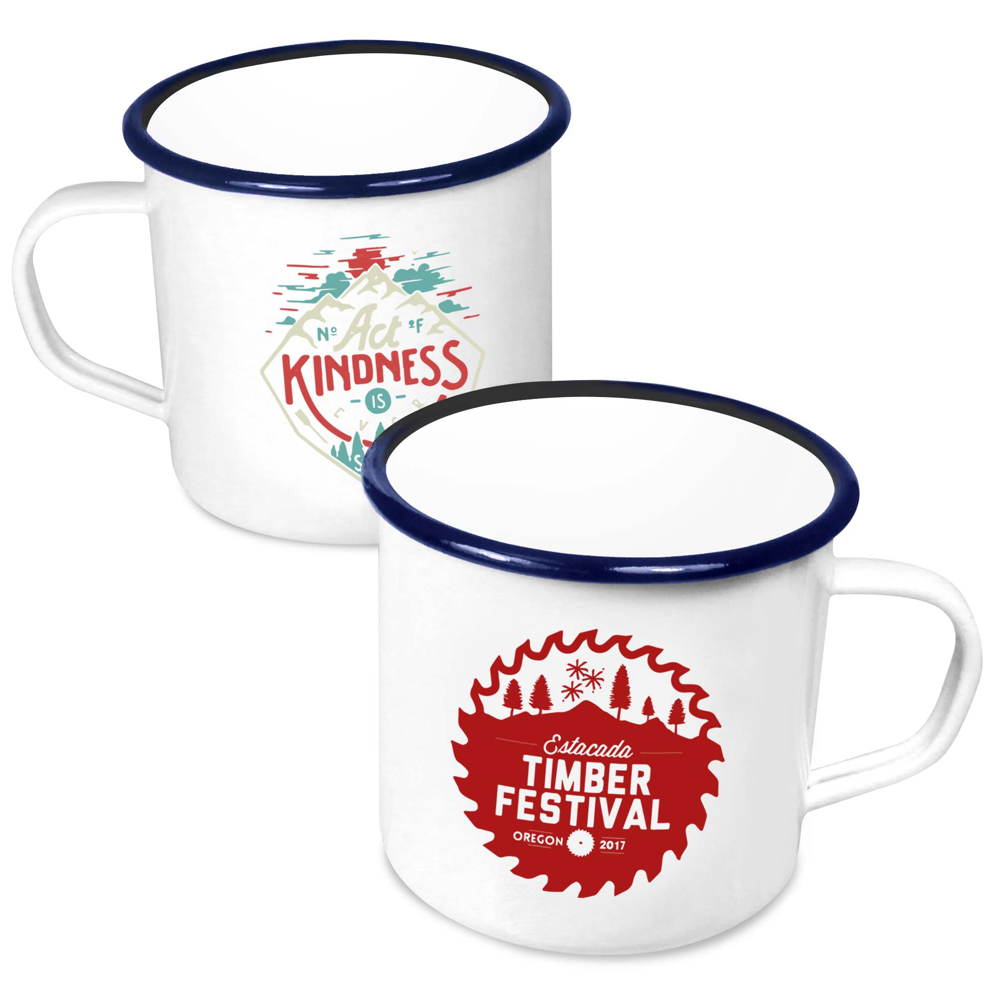 Premium Enamel Mugs 20oz/568ml (White)