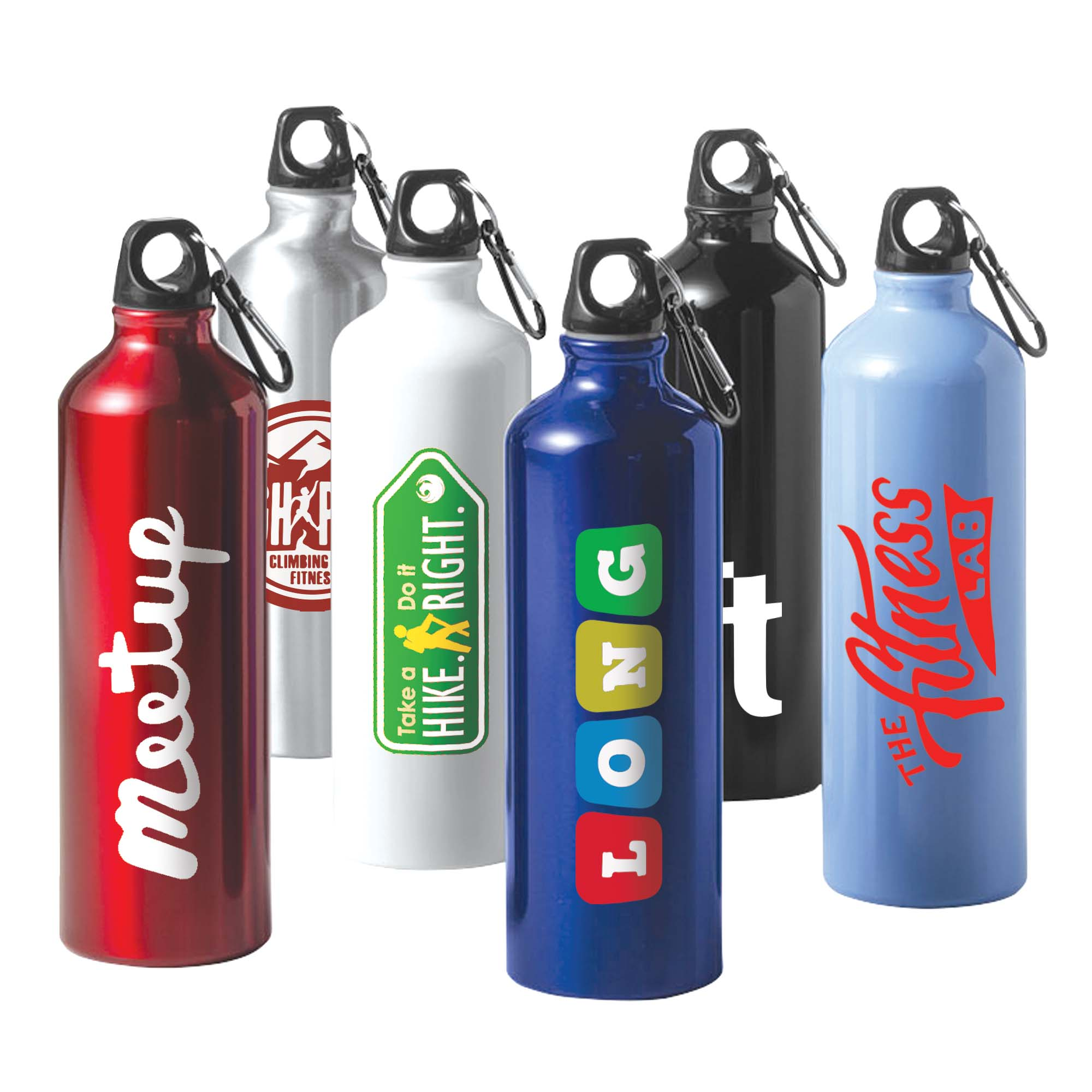 Aluminium Bottle With Carabiner - 800ml