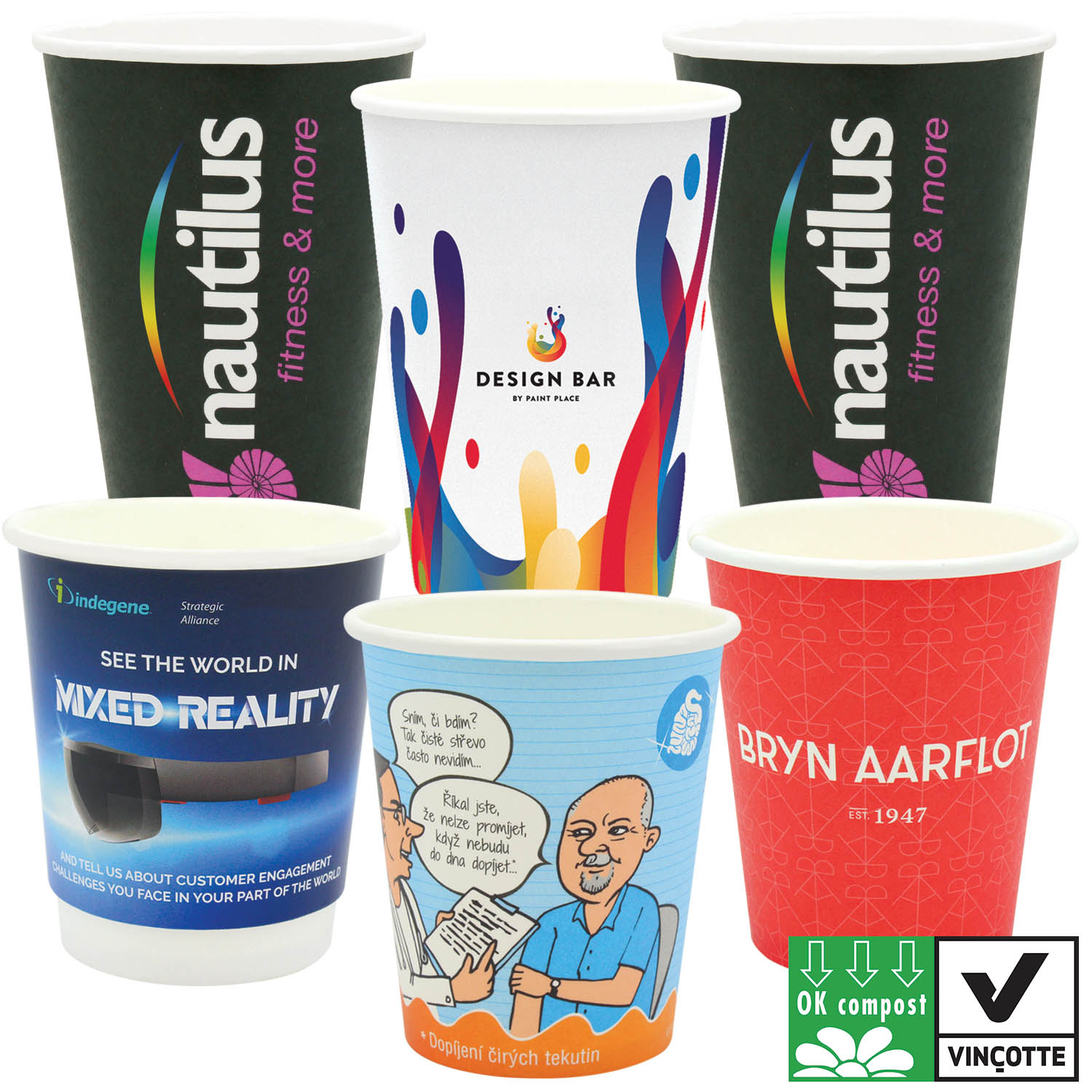 Compostable Paper Cups (Full Colour)