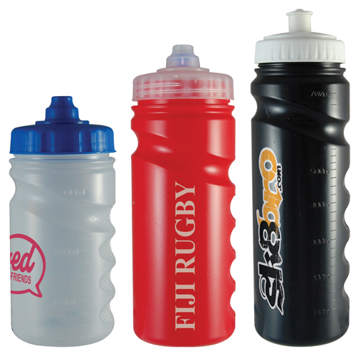 Plastic Sports Bottles (Finger Grip)