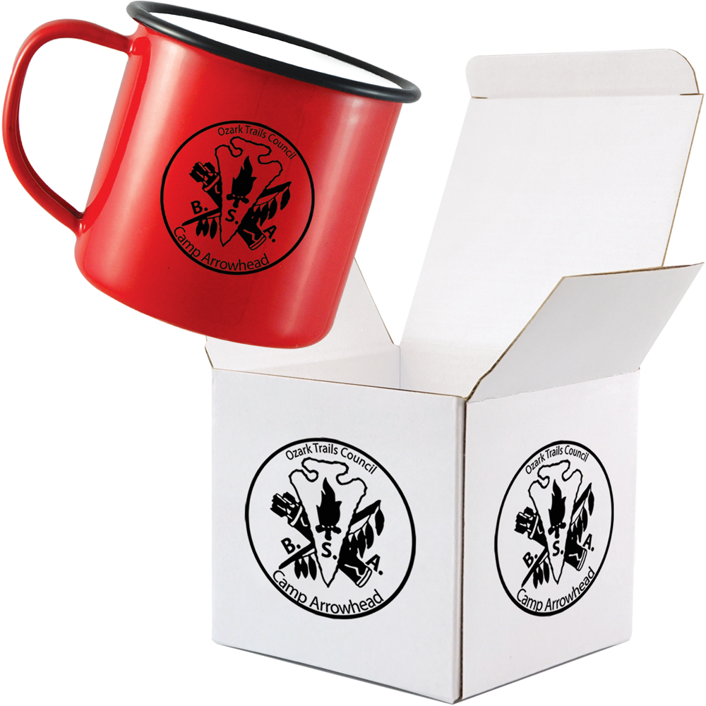 10oz Enamel Mug Individual Dispatch Box - Packed
